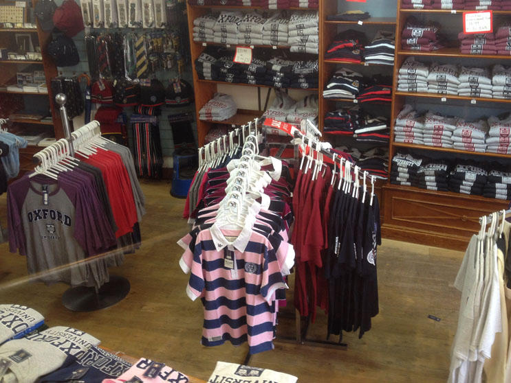 Oxford Campus Stores merchandise
